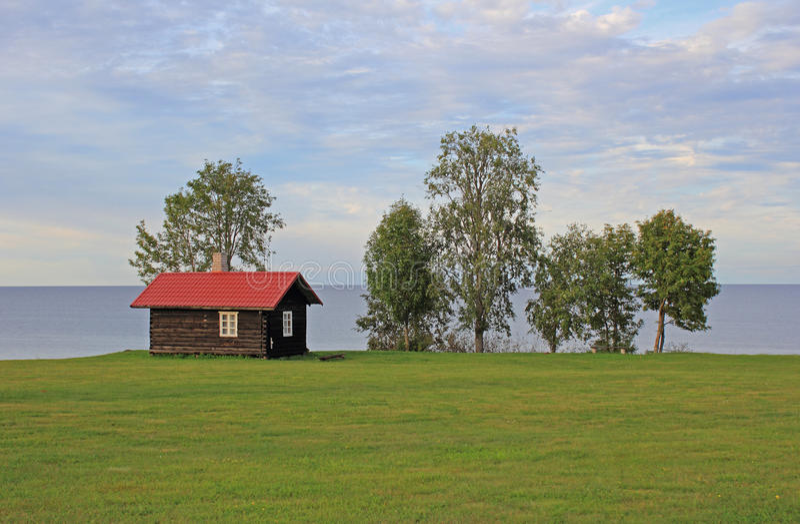 Sauna en Estonie photo libre de droits