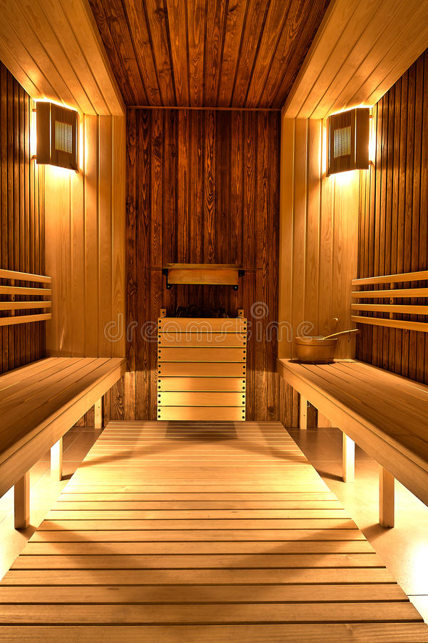 Sauna finlandais photographie stock