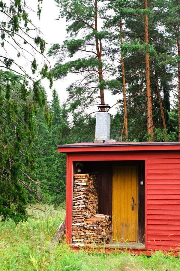 Sauna finlandesa tradicional fotografia de stock royalty free