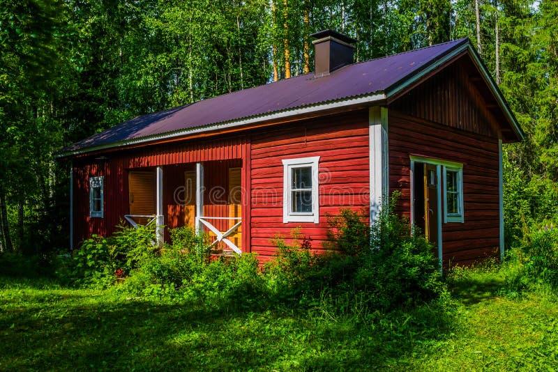 Sauna finlandese immagini stock