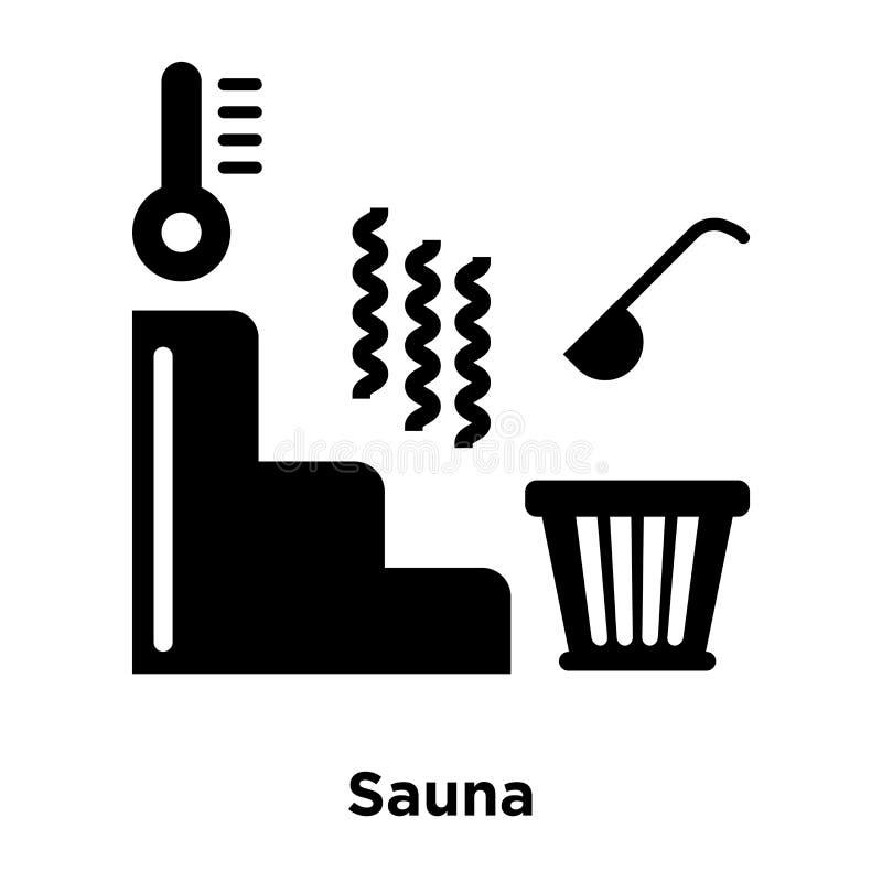 Sauna ikony wektor odizolowywający na białym tle, loga pojęcie royalty ilustracja