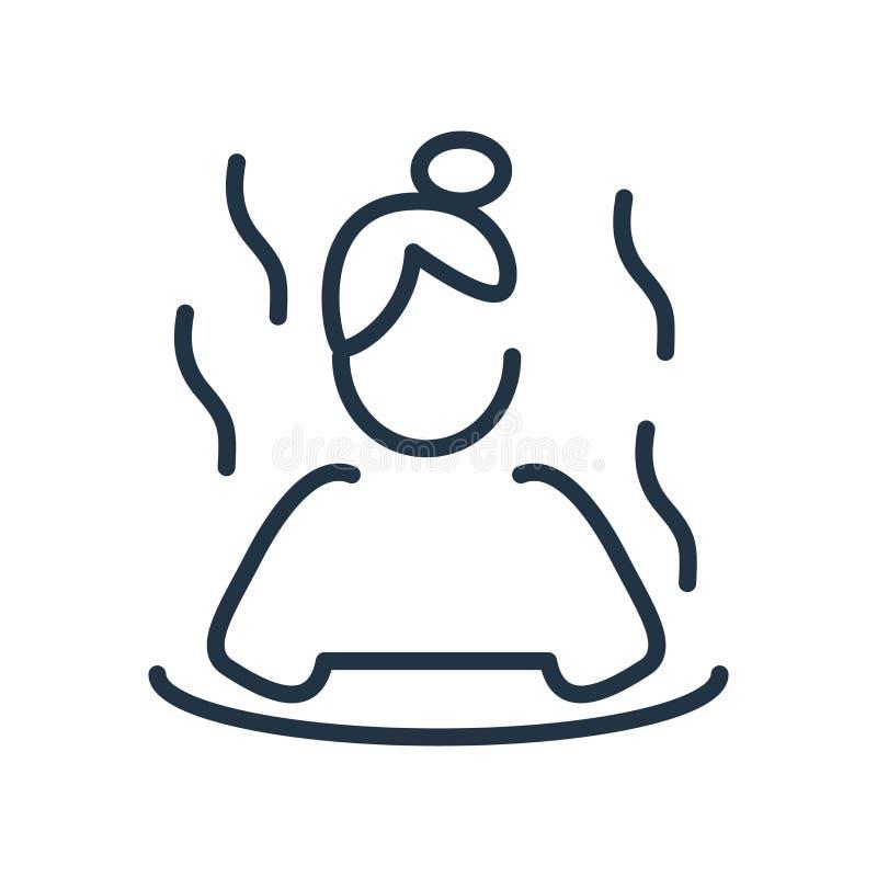 Sauna ikony wektor odizolowywający na białym tle, Sauna znak royalty ilustracja