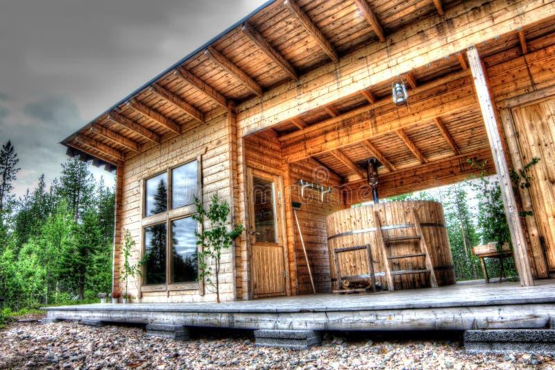 Sauna im Wald lizenzfreies stockbild