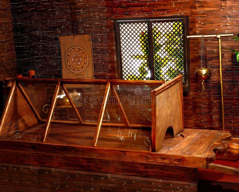 Sauna indou de massage d'ayurveda. image stock