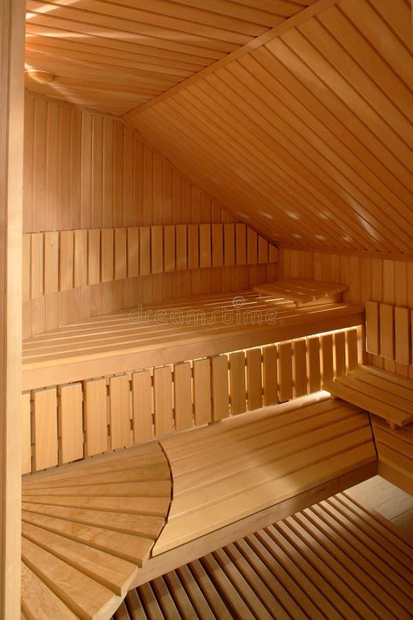 Sauna-Innenraum lizenzfreies stockfoto