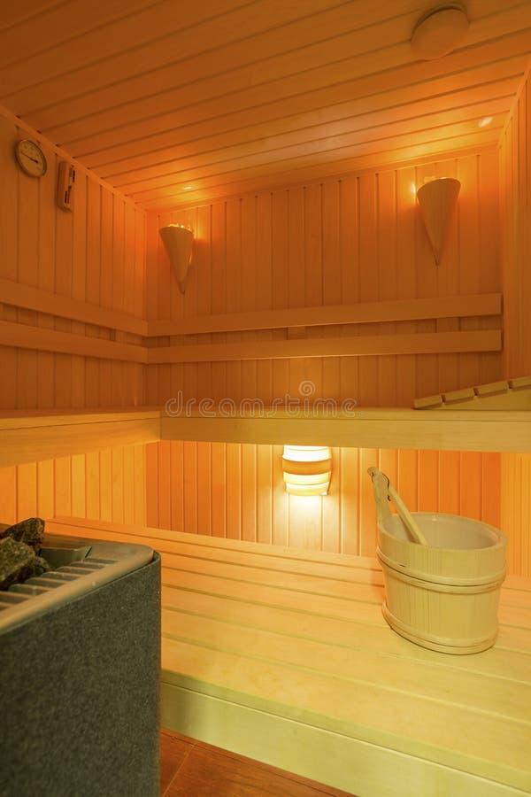 Sauna na casa imagens de stock