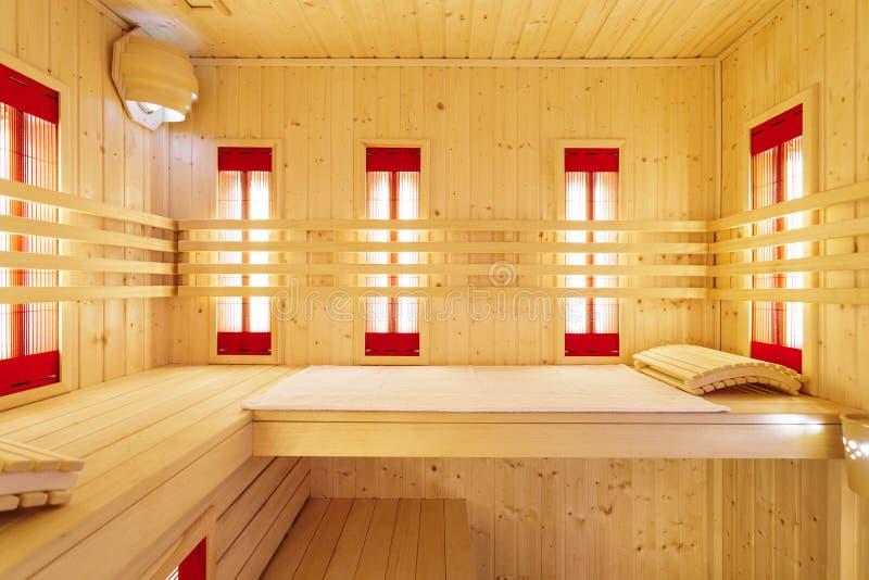 Sauna privada no apartamento luxuoso fotos de stock royalty free