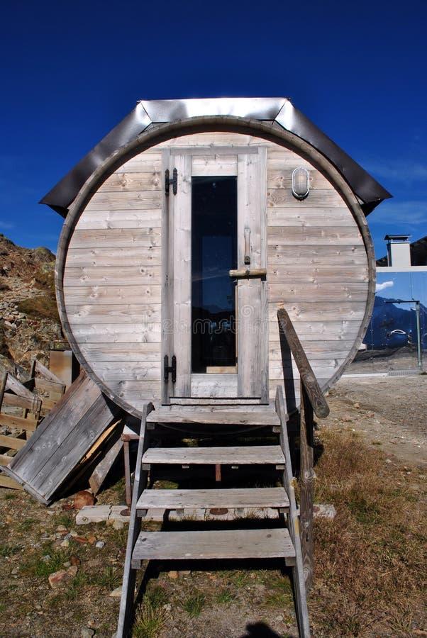 Sauna wood royalty free stock photo