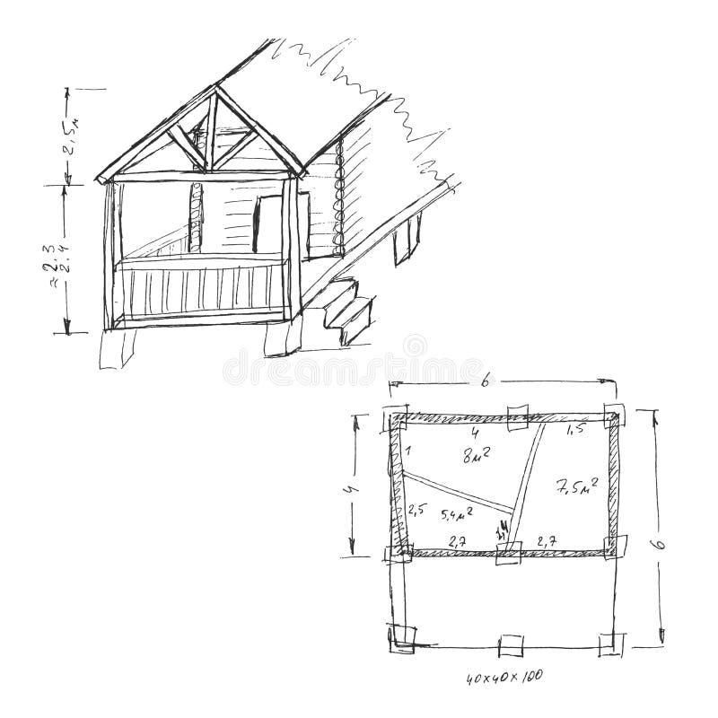 Saunaontwerp royalty-vrije illustratie