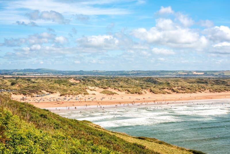 Saunton ponce la plage image libre de droits