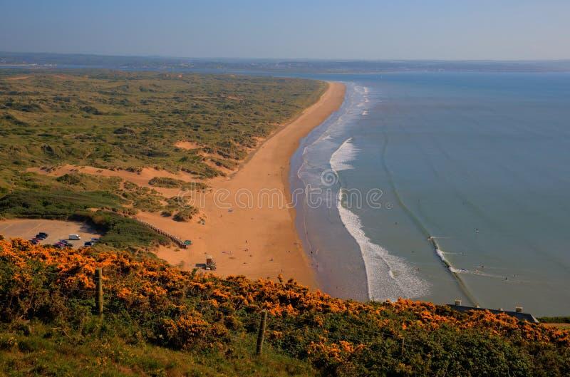 Saunton Sands North Devon coast near Croyde England UK. In summer stock image