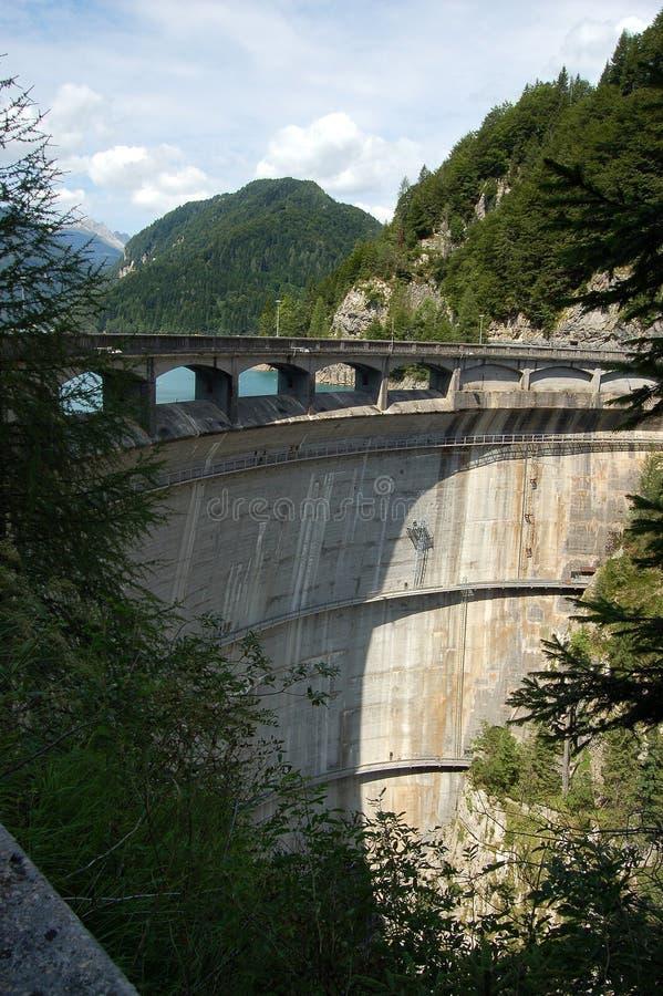 Sauris Dam - Friuli Venezia Giulia Italy. Dam of Sauris Diga di Sauris 136 m in Friuli Venezia Giulia, Italy, Europe royalty free stock photos