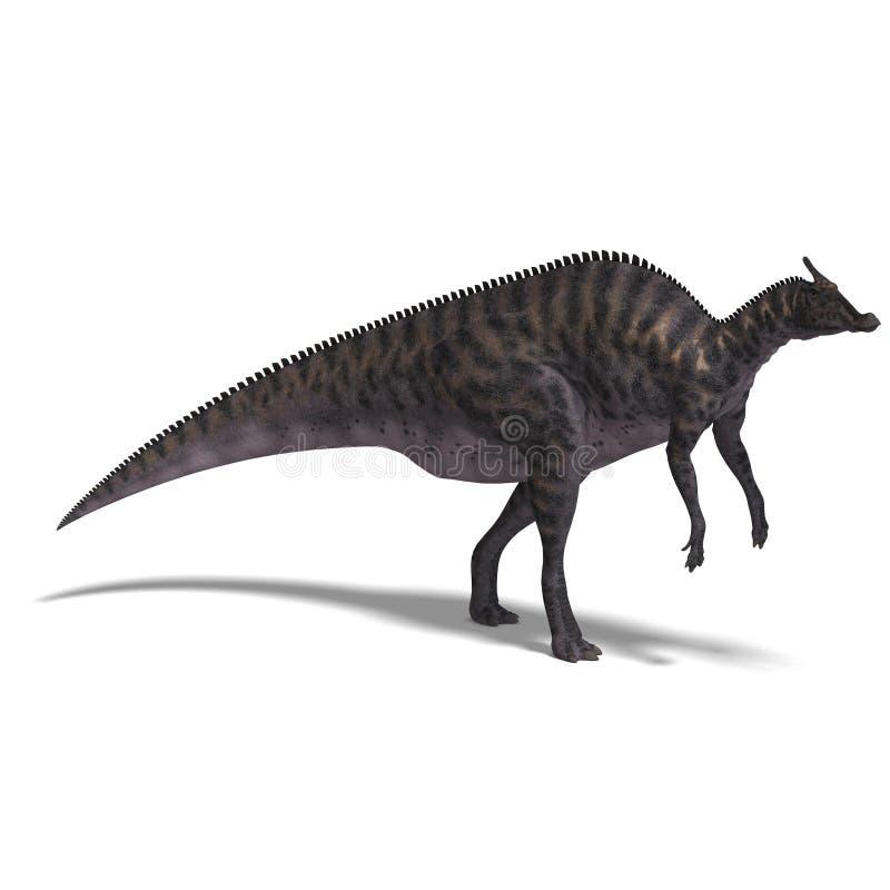 saurolophus динозавра иллюстрация вектора