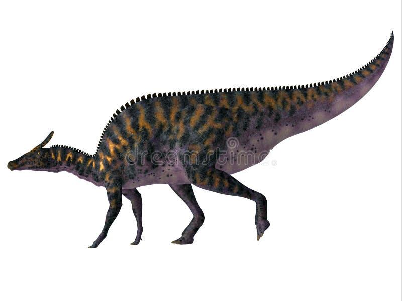 Saurolophus osborni Side Profile stock photo