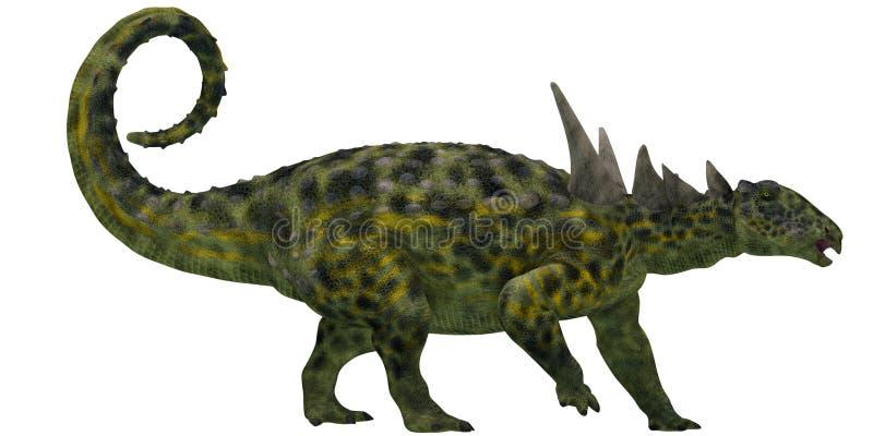 Sauropeltaprofiel op Wit stock illustratie