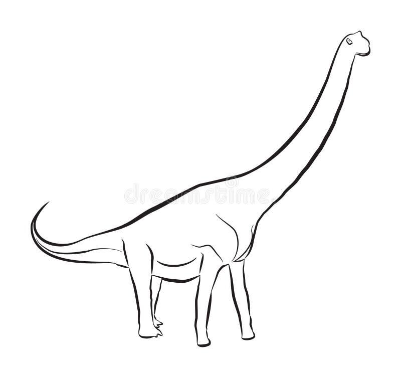 Sauroposeidon Dinosaur stock illustrationer