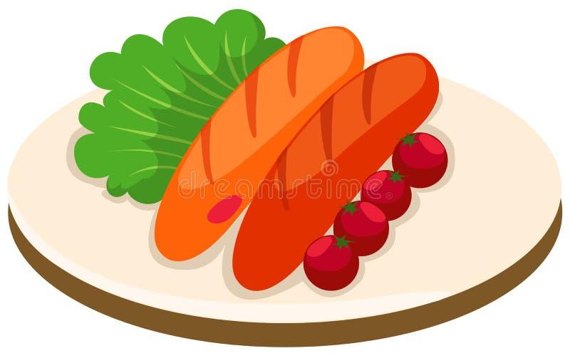 Sausage vector illustration