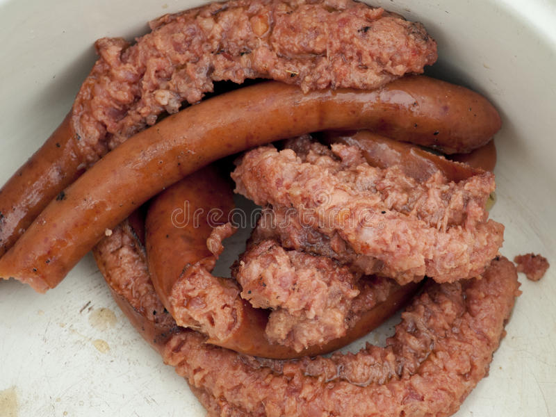 Download Sausage stock image. Image of freshness, food, meat, grease - 27372809