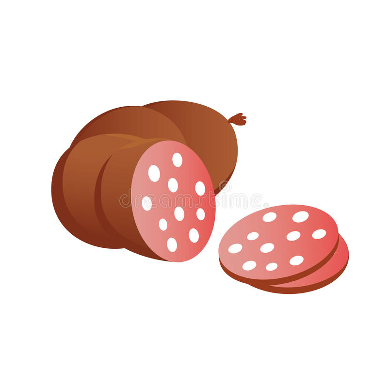 Sausage. Vector icon sign eps stock illustration