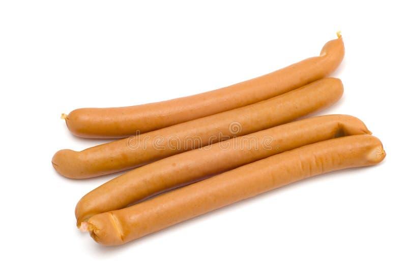 Sausage. Series object on white: food sausage stock photos