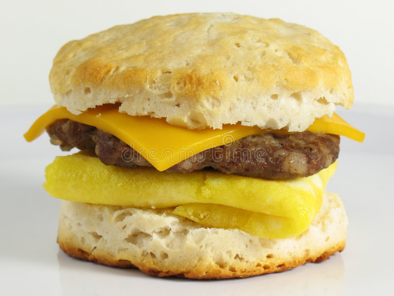 Sausage Breakfast Sandwich royalty free stock photography