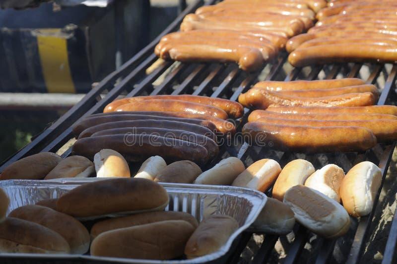 SAUSAGE FOOD OR DANISH POLSE. Dragor /Denmark - 09 June 2017.Danish polse food other word sausages as food at Drgor flea market . Photo.Francis Joseph Dean/ stock photography