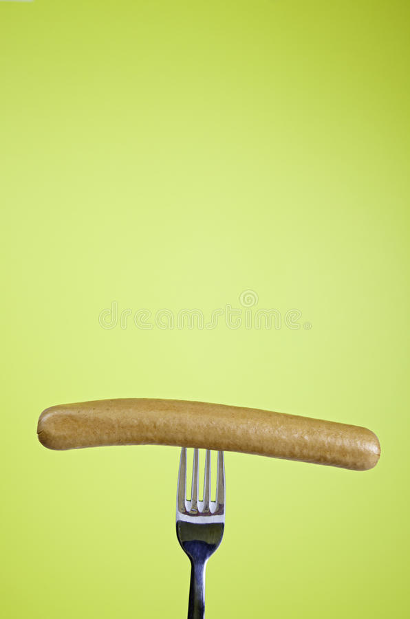 Download Sausage On Fork Royalty Free Stock Images - Image: 30698899