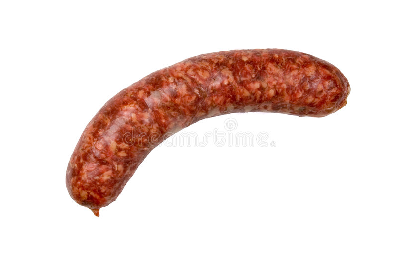 Sausage Isolated stock image