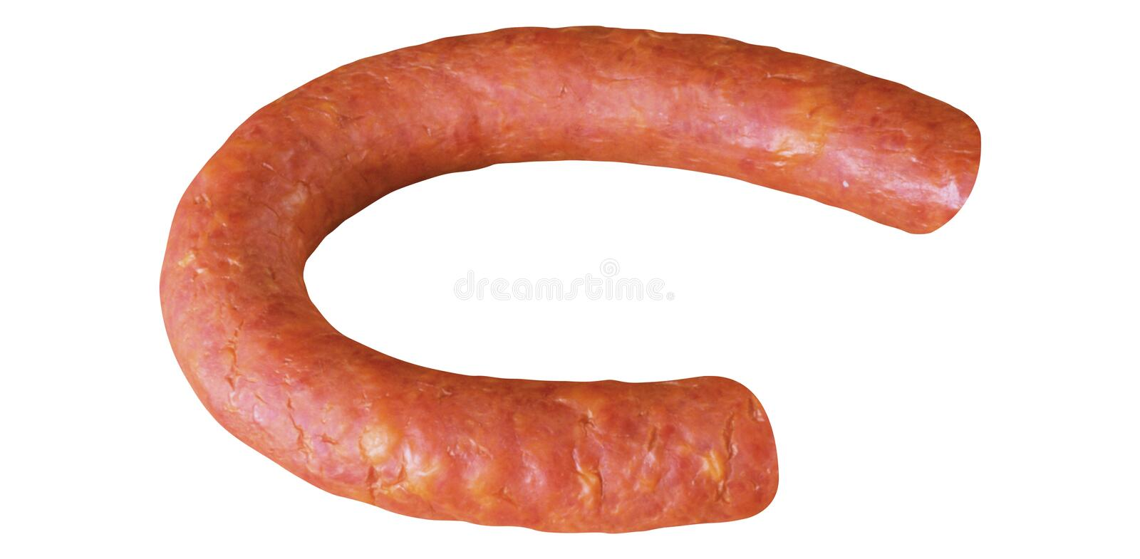 Sausage isolated on white royalty free stock images