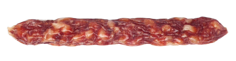 Sausage. Isolated on white background stock photos