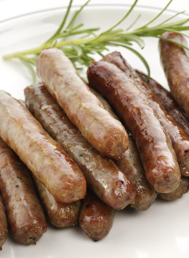 Sausage Links. Fried Breakfast Sausage Links,Close Up royalty free stock photo