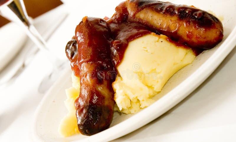 Sausage and mash 4 stock photography