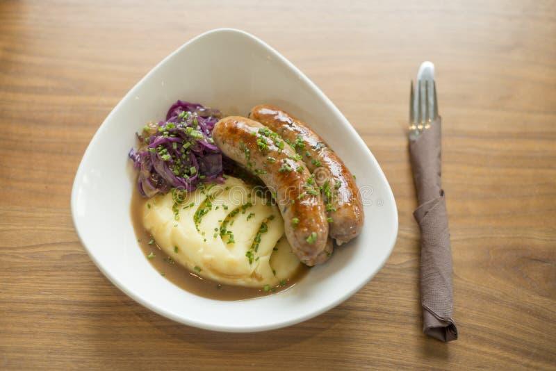 Sausage and Mash royalty free stock photography