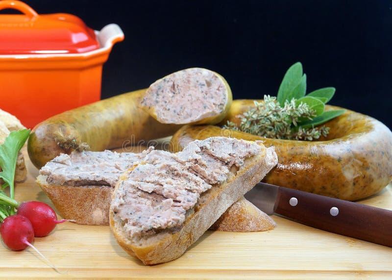 Sausage Near Kitchen Knife Free Public Domain Cc0 Image