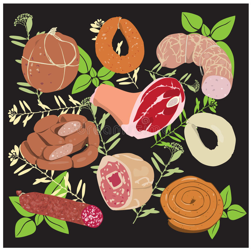 Sausage_Products vector illustration