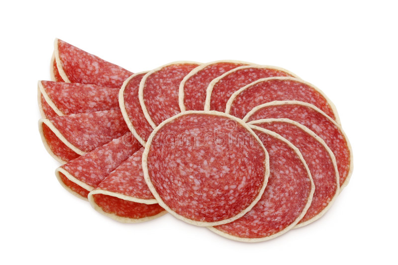 Sausage slices royalty free stock image