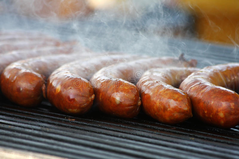 Download Sausages stock photo. Image of food, barbecue, meat, fire - 9420414