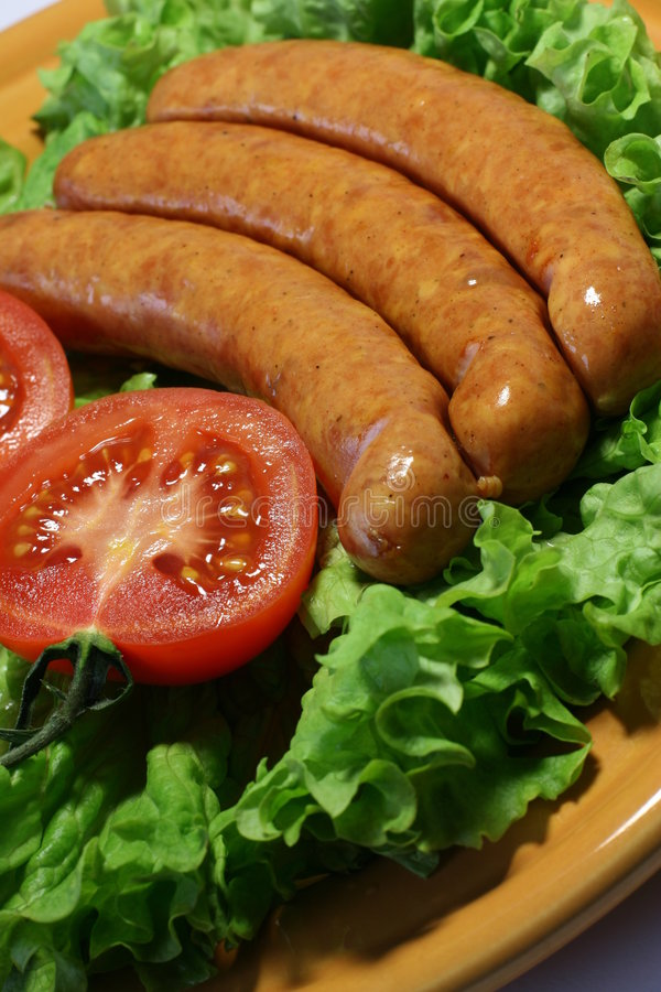 sausages a grill stock photography