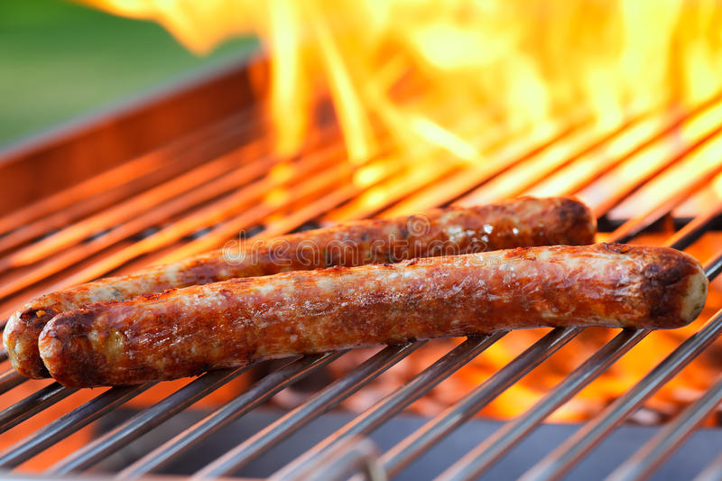 Download Sausages On Grill Stock Image - Image: 25404571