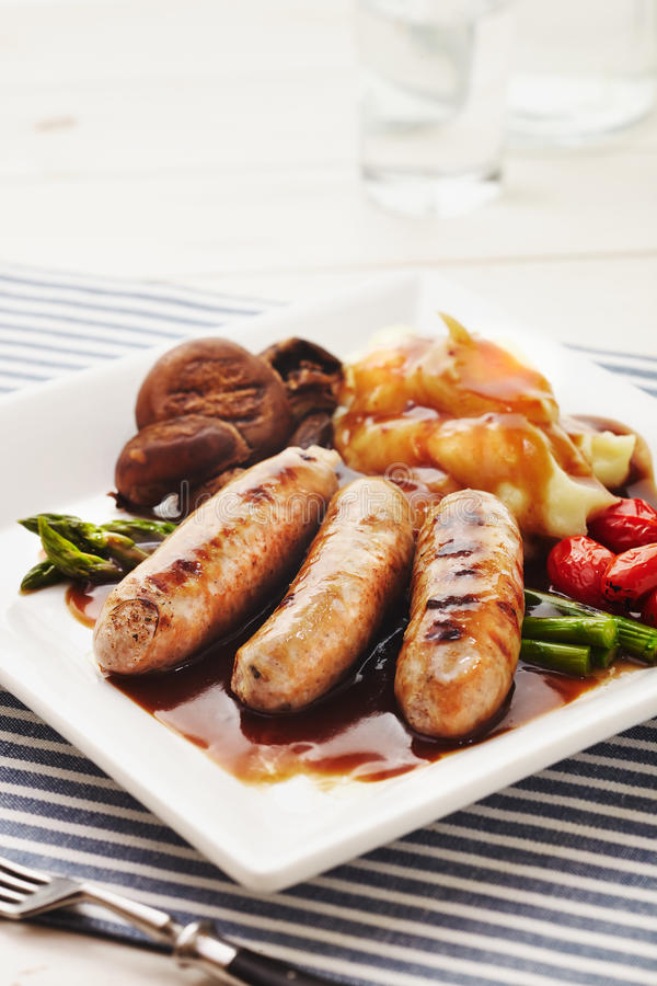 Sausages and Mash royalty free stock images