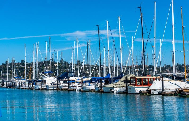 Sausalito bredvid San Francisco arkivfoton