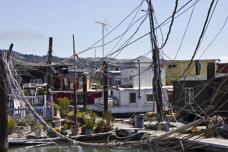 Sausalito houseboats fotografia stock