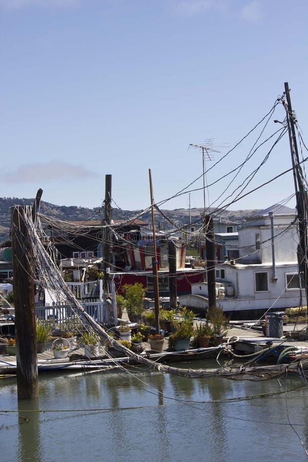 Sausalito houseboats obraz stock