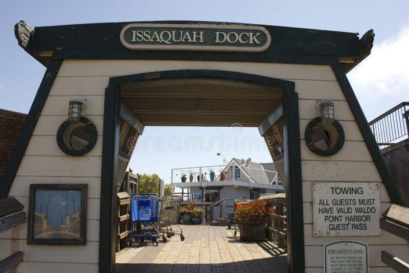 Sausalito houseboats, wejście Issaquah quartier zdjęcie stock