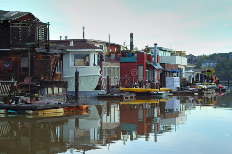 Sausalito - life on the water 2 royalty free stock photo