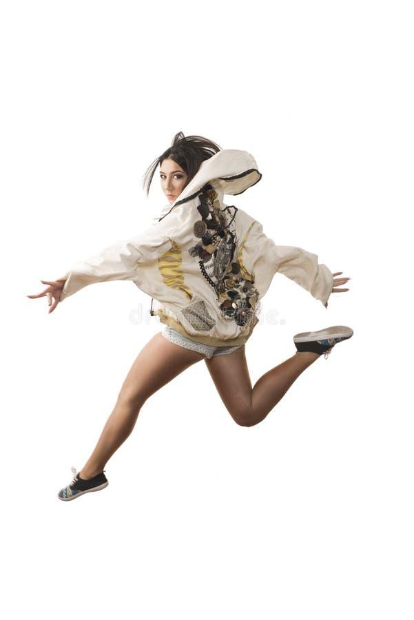 Saut énergique de danse photographie stock