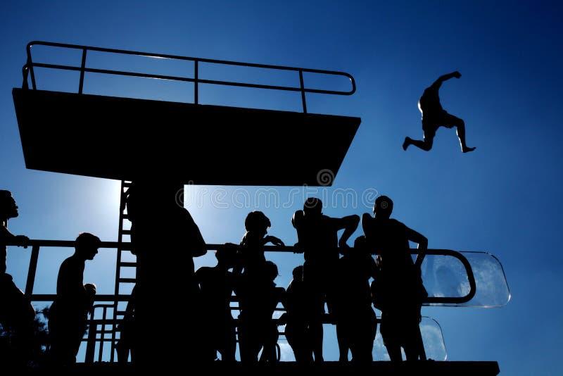 Download Saut photo stock. Image du groupe, courage, saut, garçons - 76076596