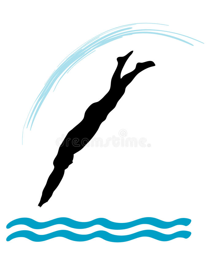 Saut d'eau illustration stock