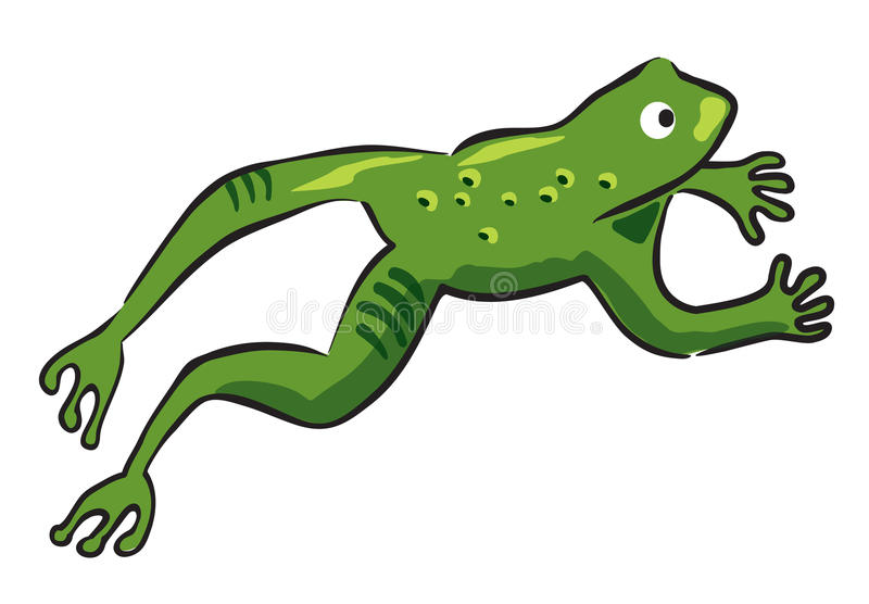 Saut de la grenouille illustration stock