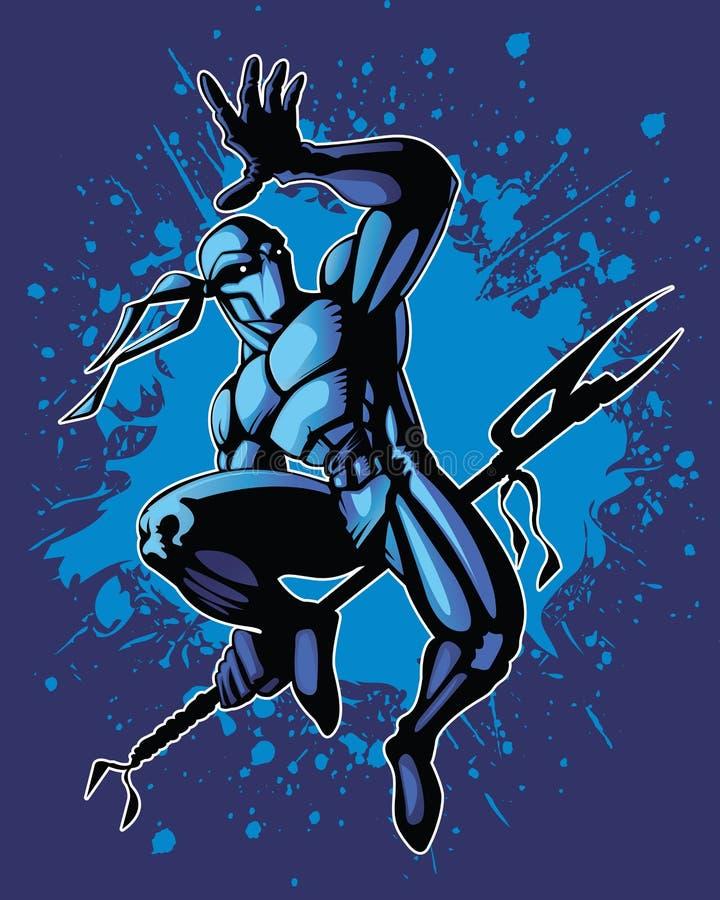 Saut de Ninja illustration libre de droits